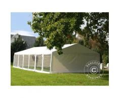 Tente de réception Exclusive 6x12m PVC, Blanc, Panorama