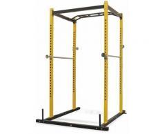 Portant de musculation fitness 140 x 145 x 214 cm jaune et noir