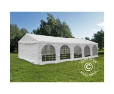 Tente de réception Original 4x10m PVC, Blanc