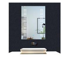 OCEAN Miroir de salle de bain 60x45cm anti-buée miroir mural avec éclairage LED modèle Rain 2.0