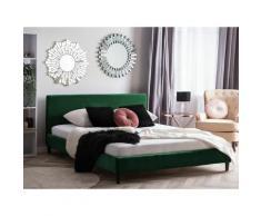 Beliani - Lit double 180x200 cm vert foncé FITOU