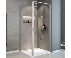 Porte de douche pivotante + paroi de retour fixe, verre 5 mm transparent, Sunny ExpressPlus