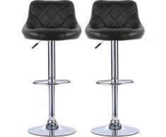 Facile à Nettoyer Tabouret de Bar Lot de 2 avec siège Bien rembourré, en Cuir Artificiel Chaise de