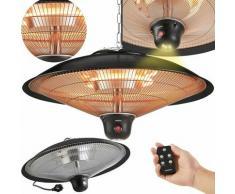 AREBOS Chauffage Radiant au Plafond Infrarouge Chauffe-Champignons Noir - Noir