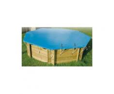 Bâche d'hivernage pour piscine bois Ubbink octogonale allongée Modèle - Samoa / Lagon 5,05 x 3,55m