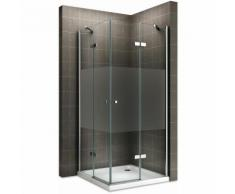 Saniverre - MAYA Cabine de douche H 180 cm en verre semi-opaque 95x120 cm