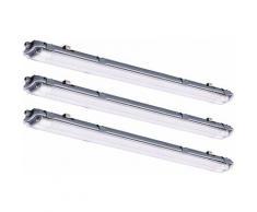 3x LED réservoirs lumières industriels halls de plafond plafonniers éclairage de la pièce humide