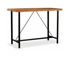 True Deal Table de bar Bois massif d'Acacia 150x70x107 cm