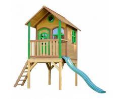 AXI - Laura Playhouse: Maisonnette pour enfants, fenêtres intégrées et bois très résistant