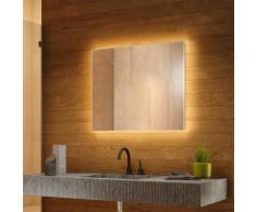 Miroir Rétro-Éclairé pour salle de bain avec Capteur et Prise Rasoir k709BL - multi-couleur
