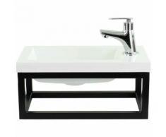 Toilette Meuble Salle de Bain Mesa 40x22 cm Blanc - Lavabo Armoire Toilette