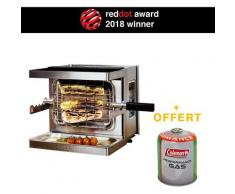 Mini Barbecue à Gaz Mobile Beef Chef - Grill Puissant 800°C - Red Dot Award Allemand BBQ Jardin