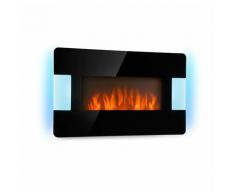 Klarstein Belfort Light & Fire Cheminée électrique Chauffage 1000 / 2000W - noire