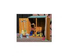 Mercatoxl - MercartoXL Armoire à bois extérieur 162 x 140 x 75 cm résistant Accessoires de jardin