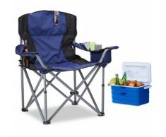 Chaise de camping pliante chaise de jardin pliable avec dossier et porte-gobelet HxlxP: 95 x 94 x