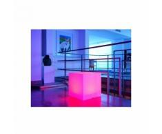 Cube lumineux multicolore par secteur - 40 x 40 x 40 cm