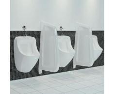 Topdeal VDTD05744_FR Brise-vue pour urinoir mural Céramique Blanc