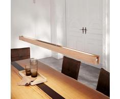 Lucande - LED Suspension à intensité variable 'Alin' en bois pour salon & salle à manger