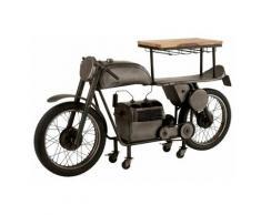 Table De Bar Design motocyclette 200cm Gris - Paris Prix