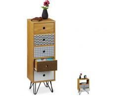 Petite armoire avec tiroirs, retro & vintage, salon et entrée, meuble d'appoint HlP: 90x30x25 cm,