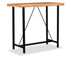 Hommoo Table de bar Bois massif de Sesham 120 x 60 x 107 cm