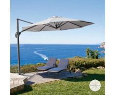 Parasol de jardin de 3 mètres avec bras décentralisée aluminium PARADISE