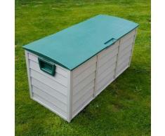 Coffre de Jardin Exterieur en plastique - Caisse de Rangement de Jardin - Coffre de Rangement en