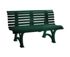 Banc de jardin extérieur en plastique | 13 lames | Longueur 1500 mm | Vert mousse - Coloris assise: