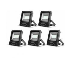 5× 50W Spot LED Éclairage Porjecteur LED IP65 Étanche Ultra-Mince Lampe à Leds pour Intérieur et