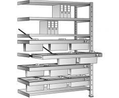 Rayonnage emboîtable pour dossiers suspendus - hauteur 2280 mm, châssis à 3 rangées - rayonnage