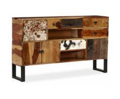 Helloshop26 - Buffet bahut armoire console meuble de rangement bois massif de sesham 140 cm - Bois