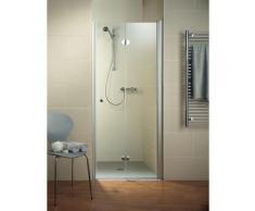 Porte de douche pivotante-pliante, verre 6 mm, profilé en aspect chromé, Garant, Schulte, 80 x 200