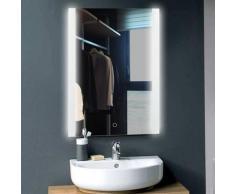 Skecten - Design Miroir Mural Miroir Lumineux à LED pour Salle de Bain Blanc Froid 70*50 cm