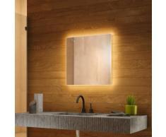 Miroir Rétro-Éclairé pour salle de bain avec Capteur et Prise Rasoir k702BL - multi-couleur