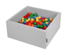 90X40cm/200 Balles ? 7Cm Carré Piscine À Balles Pour Bébé Fabriqué En UE, Gris Clair:
