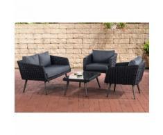 Salon de Jardin lounge Trosa 5mm noir