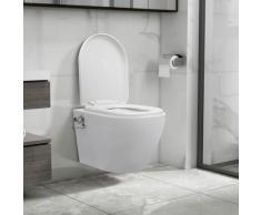 True Deal - Toilette murale sans bord à fonction de bidet Céramique Blanc