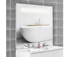 Miroir ELEGANCE 124x105 cm - éclairage intégré à LED et interrupteur sensitif