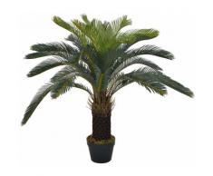 plante artificielle avec pot palmier cycas vert 90 cm - Rogal