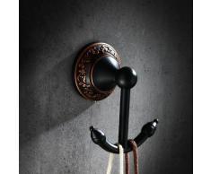 Jolie patère style vintage en noir antique et Noir