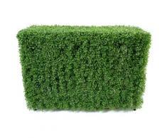 Plante artificielle haute gamme Spécial extérieur / Buis Haie artificiel coloris vert - Dim : 90 x