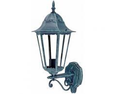 Lampe murale lampe extérieure lanterne télécommande vert noir dans l'ensemble y compris les