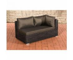 Canapé d'angle de 2 places Tessera rond/noir Anthracite