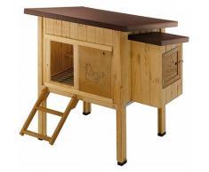 Ferplast HEN HOUSE 10 Maisonnette pour poules en bois de pin nordique. Variante HEN HOUSE 10