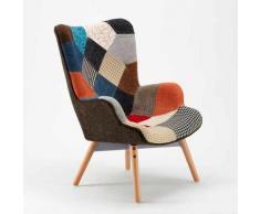Ahd Amazing Home Design - Fauteuil Design Style Scandinave Patchwork Salon Patchy