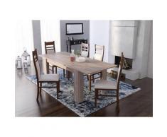 Dmora Table péninsule de cuisine avec 4 étagères, Meuble bar, Table haute auxiliaire, 112x49xh106