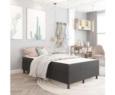 Sommier tapissier Gris foncé Tissu 120x200 cm