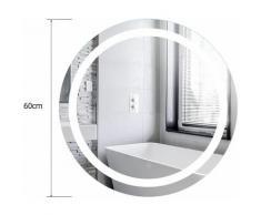 Sifree - MIROIR MURAL BEAU MIROIR SALLE DE BAIN LUMINEUX LED 60*60cm HD TACTILE ANTI-BUÉE fonction