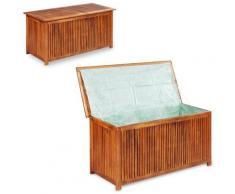 Boîte de rangement de jardin 117x50x58 cm Bois d'acacia solide