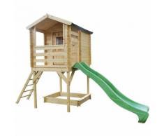 Maisonnette en bois sur pilotis - 175x130cm
